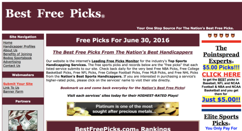 Best Free Picks Reviews - Professional Sports Handicapper at