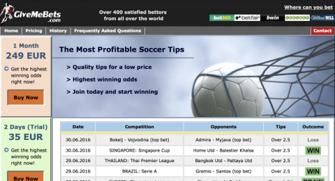 Give Me Bets (Soccer Picks) Reviews