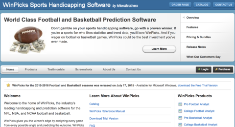 MicroBrothers - WinPicks Sports Handicapping Software Reviews
