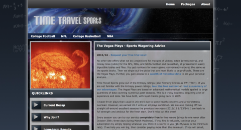 Time Travel Sports Reviews